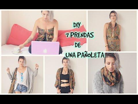 DIY una pañoleta 7 prendas