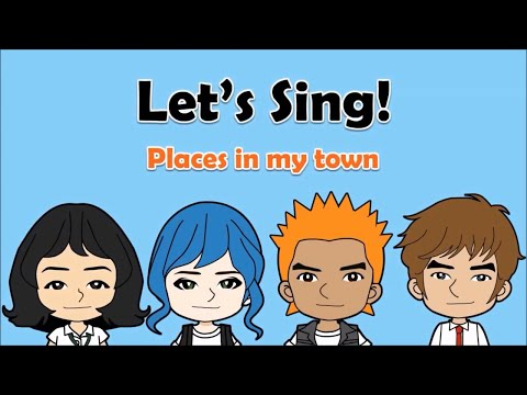 11 'Places in my town' Song  (Directions)  English on Tour