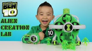 Ben10 Ultimate Alien Creation Lab Toys Unboxing Bandai With  Ckn Toys