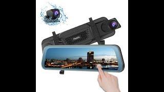 Peztio Mirror Dash Cam Front and Rear, 1080P FHD Rear View Mirror Dual Dash
