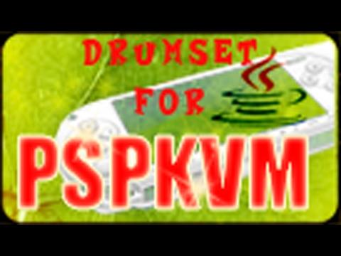 PSPKVM - Standard Drumset .pat files Demo Video