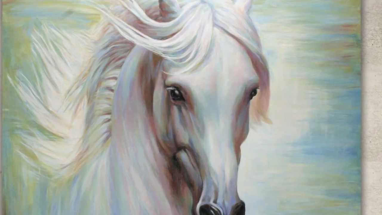 Horse head canvas painting