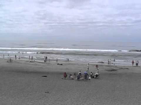 Oregon Coast near Astoria with Shipwreck