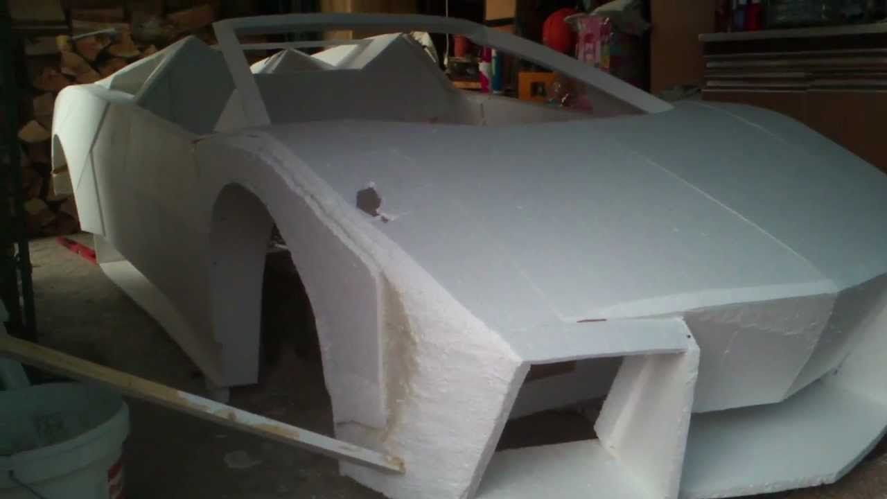 How To Build A Lamborghini Reventon From Foam P 1 Youtube