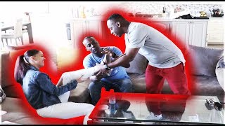 FLIRTING WITH YOUR DAD PRANK **gets intense**   THE PRINCE FAMILY