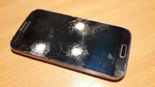 Тест защитного стекла для телефона. Проверка выстрелом. 4K