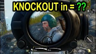 PUBG Mobile - How many BULLETS are FIRED for KNOCKOUT ??
