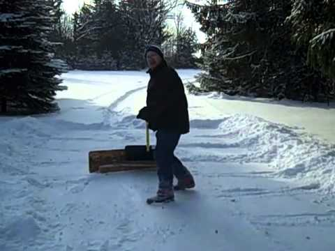 How to Shovel Snow with a Home Made Push Plow