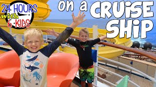24 Hours with 6 Kids on a Cruise Ship