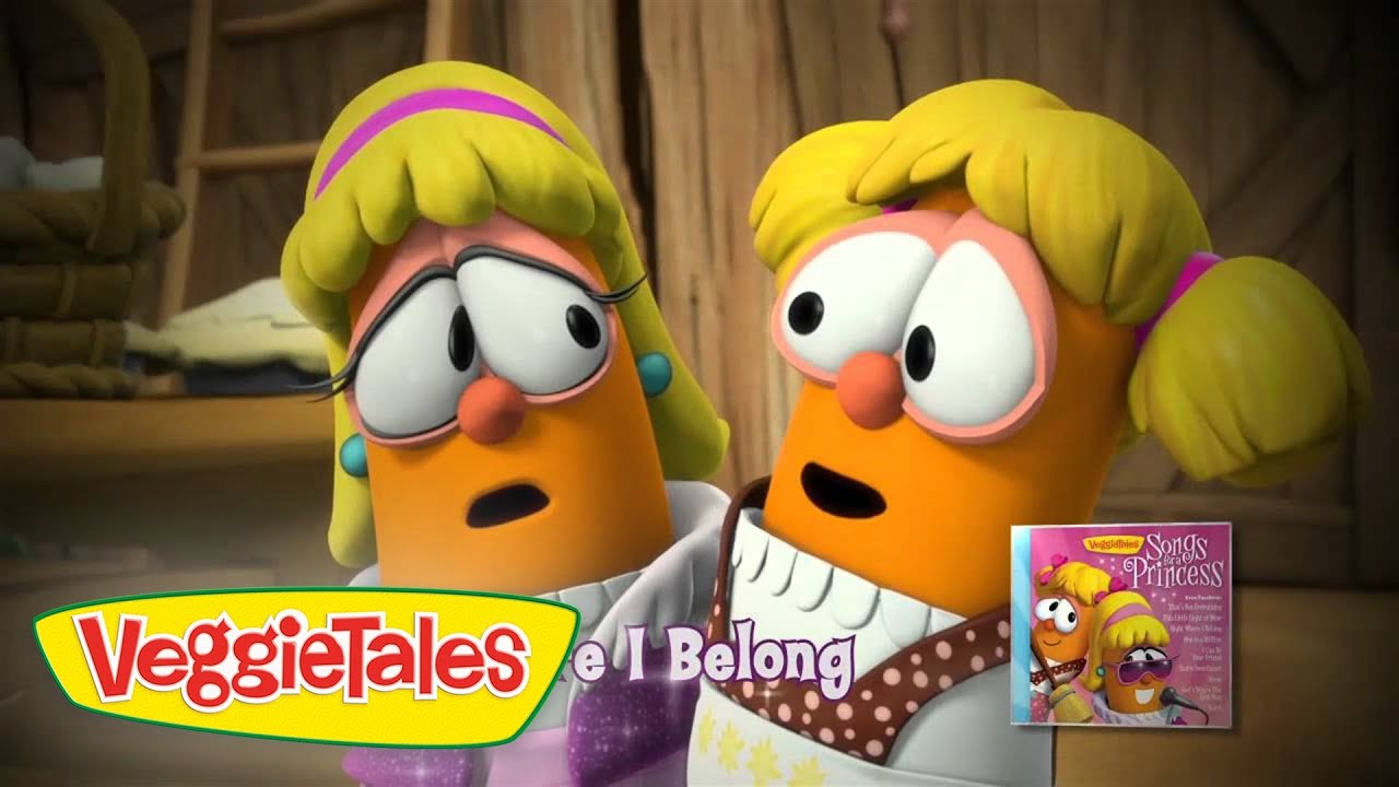 Veggietales penniless princess coloring pages