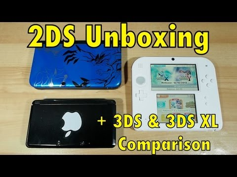 2DS Unboxing + 3DS & 3DS XL Comparison
