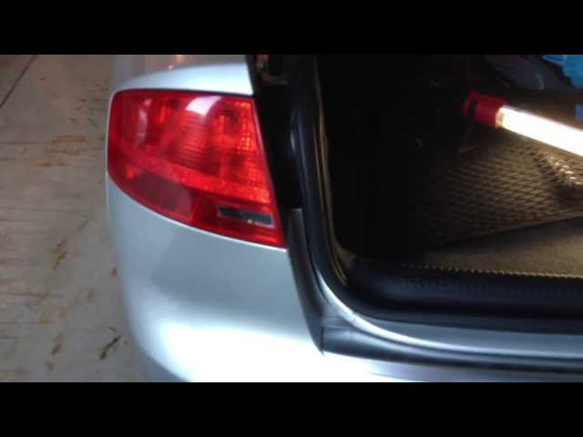 Audi B7 A4 - DIY: Outer Tail Light Bulb Replacement - YouTube
