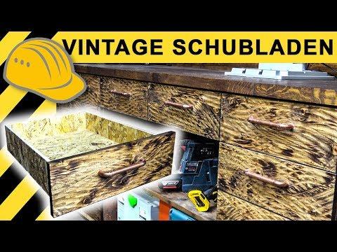 Exklusive Vintage Schubladen mit Kupferrohr Griffe selber bauen | Werkstatt VLOG #04