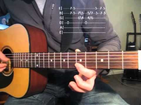 Unwell-Matchbox Twenty Intro Lesson & TABS.   Version 2.