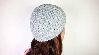 How to Loom Knit a Basic Cloche Hat (DIY Tutorial)