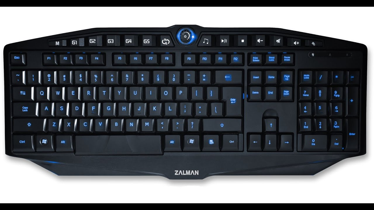 Review Of Zalman Zm K400g Light Up Gaming Keyboard Youtube