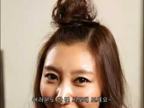 Popular korean hairstyle//사과머리 볼륨헤어 리본헤어 따라하기