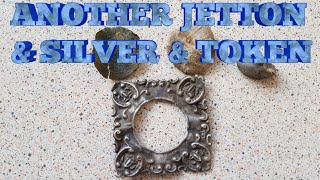 METAL DETECTING UK ANOTHER JETTON CELTIC TOKEN AND SOME SILVER
