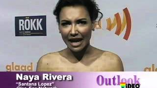 Naya Rivera on the red carpet of the 22nd GLAAD Media Awards in San Francisco