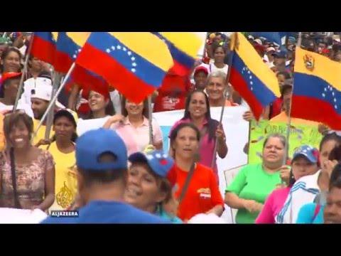 Venezuela protesters clash with riot police in Caracas