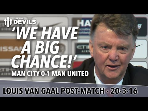 Manchester Derby | 'We Have A Big Chance' | Louis van Gaal Presser | City 0-1 United