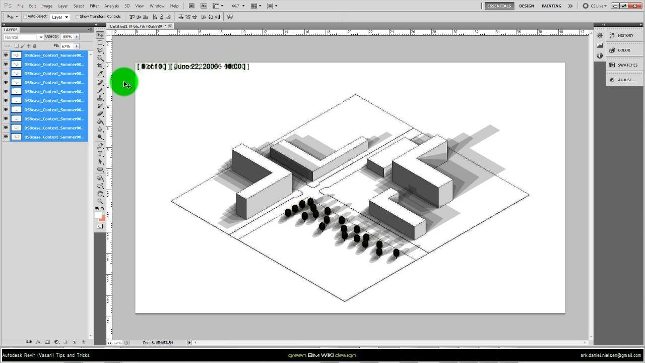 autodesk vasari  revit  sa   shadow