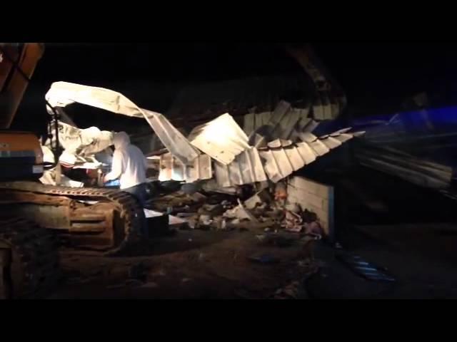 מבצע רחב היקף להריסת מבנים ועסקים לא חוקיים בכפר חיזמא
