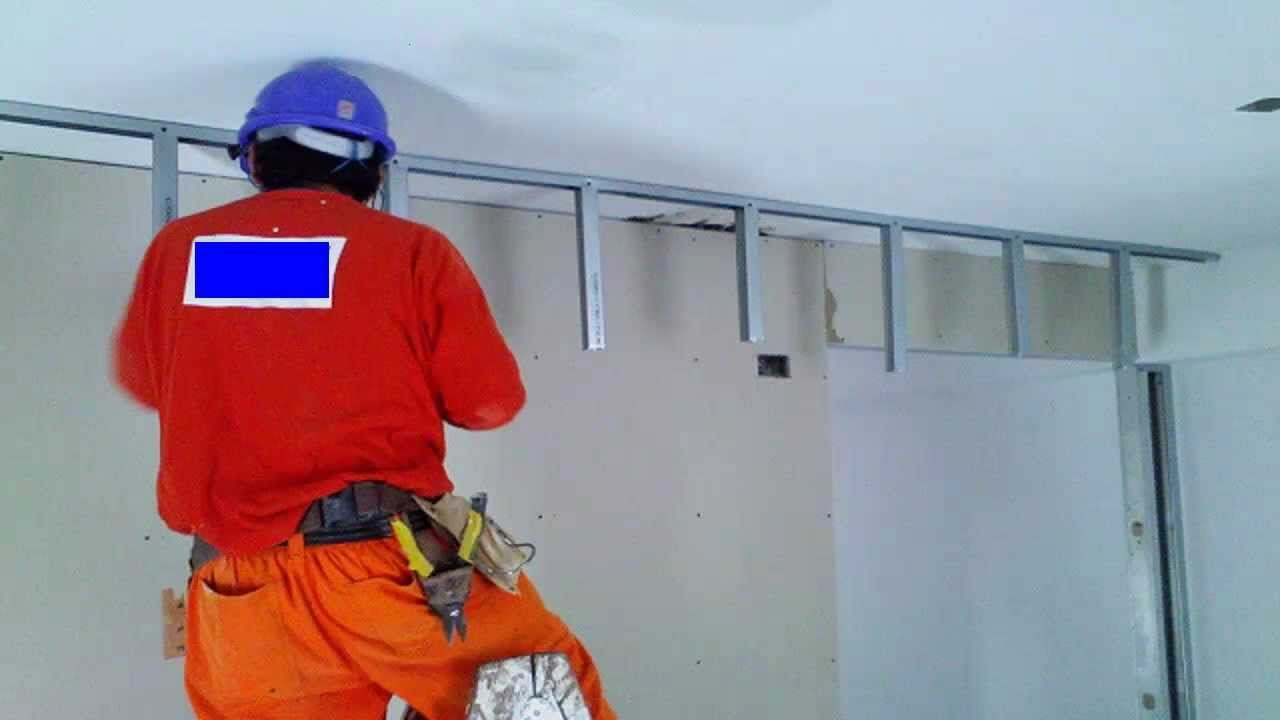 Drywall lima per como instalar una falsa viga 1 de 2 youtube - Como colocar pladur en techo ...