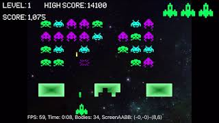 XUI2D Space Invaders Example