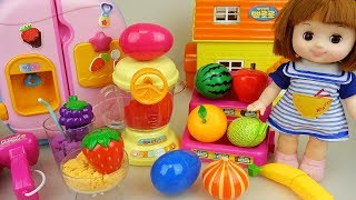 Baby doll color juice maker and surprise eggs toys baby doli kitchen play