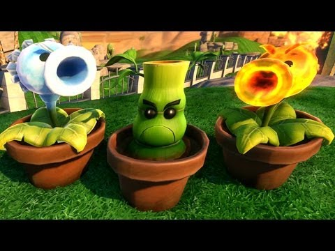Plants vs. Zombies: Garden Warfare - All New Plant Reinforcements gameplay (Bamboo, Fire & Ice Pea)