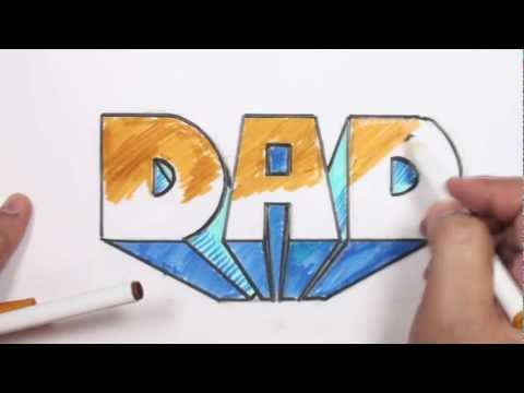 How to Draw 3D Block Letters - DAD in One-Point Perspective - MAT