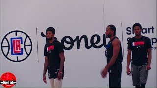 Kawhi Leonard & Paul George Shooting Workout After Practice. HoopJab NBA