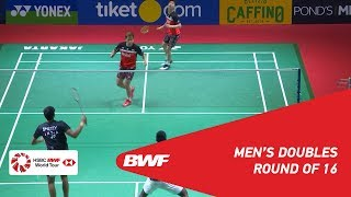 R16 | MD | GIDEON/SUKAMULJO (INA) [1] vs.RANKIREDDY/SHETTY (INA) | BWF 2019
