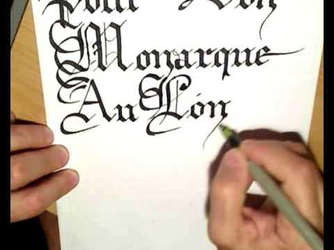 Gothic Calligraphy - Calligraphie Gothique - 2/2 - YouTube