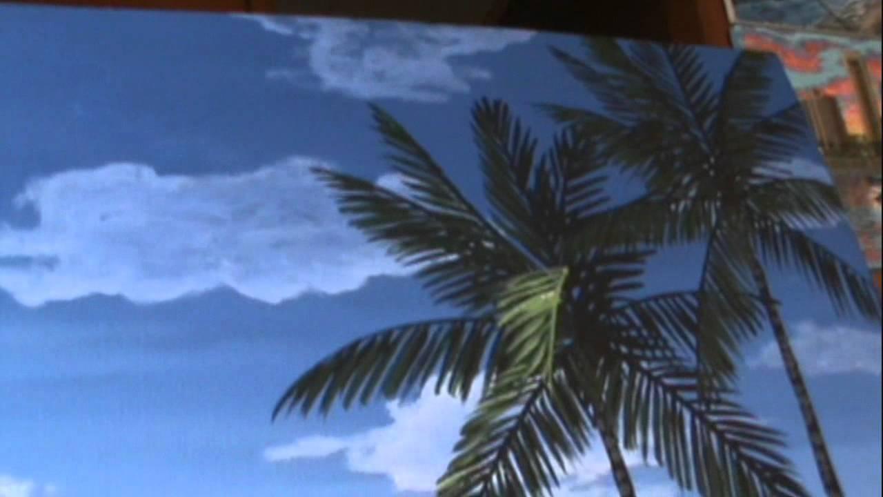 Come dipingere un paesaggio 14 marino notte con acrilico for Disegno paesaggio marino