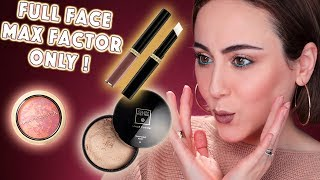 Full Face Using Only MAX FACTOR Products | MAX FACTOR Drogerie One Brand Makeup | Hatice Schmidt