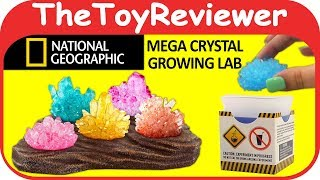 National Geographic Mega Crystal Growing Lab Grow Display Stand Unboxing Toy Review TheToyReviewer