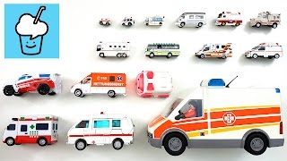 Ambulance for kids with tomica トミカ VooV ブーブ 変身  playmobil tayo  타요 꼬마버스 타요 중앙차고지 transformer