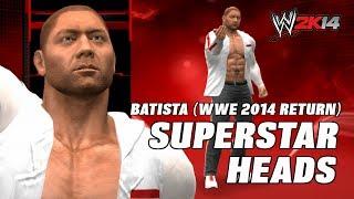 Wwe 2k14 Batista Return Wwe Raw 2014 Superstar Heads
