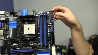 MSI A85XA-G65 Trinity APU Motherboard Unboxing & First Look Linus Tech Tips
