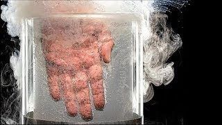 What will happen if you put your hand into liquid nitrogen
