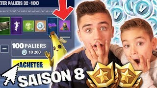 J'ACHETE TOUT LE PASS DE COMBAT SAISON 8 ET TEST NEW MAP - FORTNITE BATTLE ROYALE - Néo The One