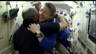 NASA Television Video File Expedition 59-60 Hatch Opening / Welcome Ceremony