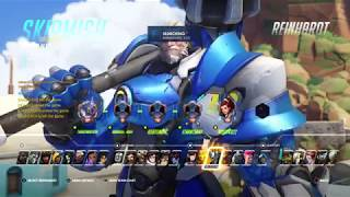 Playing some Overwatch with friends
