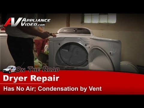 Whirlpool Dryer Repair - Replacing blower wheel. pulley & belt - condensation by vent - WED8200YW
