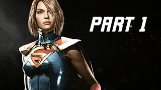 INJUSTICE 2 Walkthrough Part 1 - Chapter 1 GODFALL - Kara & Batman (Story Mode Let