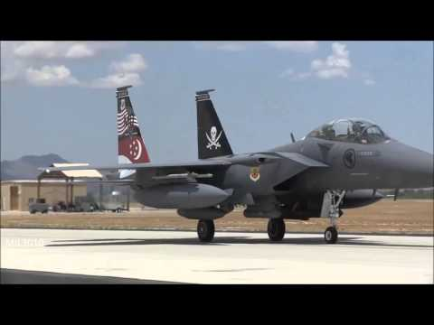 F 15SG Strike Eagle ВВС Сингапура на базе Девис Монтен в США  Republic of Singapore Air Force