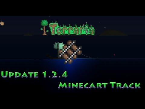 Minecart Tracks Terraria Minecart Track Youtube