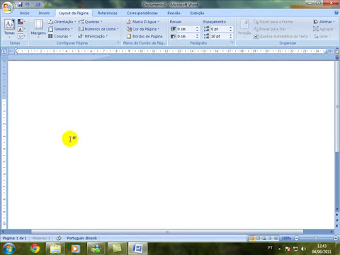 Como girar a folha no Microsoft Office Word